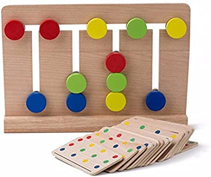 Mfumyy Wooden Montessori Three Primary Color Mixing Learning Board for Kids Educational Learning Toys Color Cognition Toy Color Matching Toy