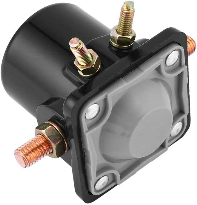 Swiftswan Metal Starter Solenoid Switch Relay for Johnson OMC Evinrude Outboard Motor 12V Balck Perfectly Fit In