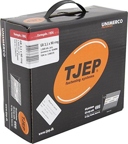 TJEP GR 31/90 Streifennä gel Rille Feuerverzinkt, 3,1x90mm Maxibox