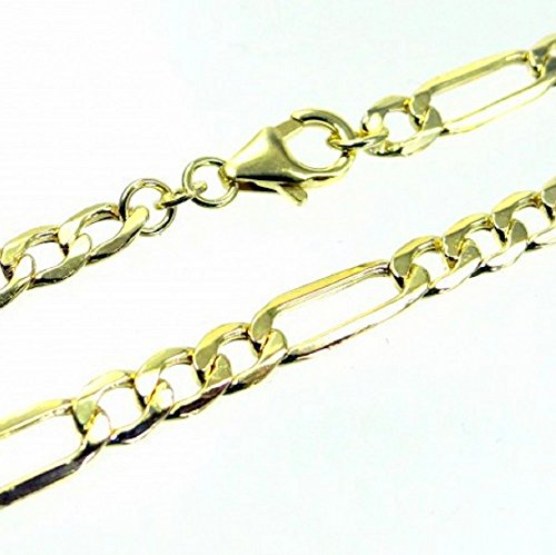 ASS 333or collier Messieurs Figaro chaîne, collier femme 60cm 5,3mm Chaîne Figaro, diamanté