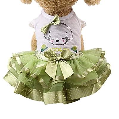 Geetobby Pet Clothing Small Dogs Princess Bride Dress Summer Skirt Fruit Design