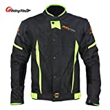 Motorcycle Protective Jacket, Breathable Mesh Design, Built-in Removable Waterproof Lining
