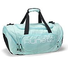 Runetz - TEAL Hot Blue Gym Bag Athletic Sport Shoulder Bag for Men & Women Duffel 20-inch Large - Teal