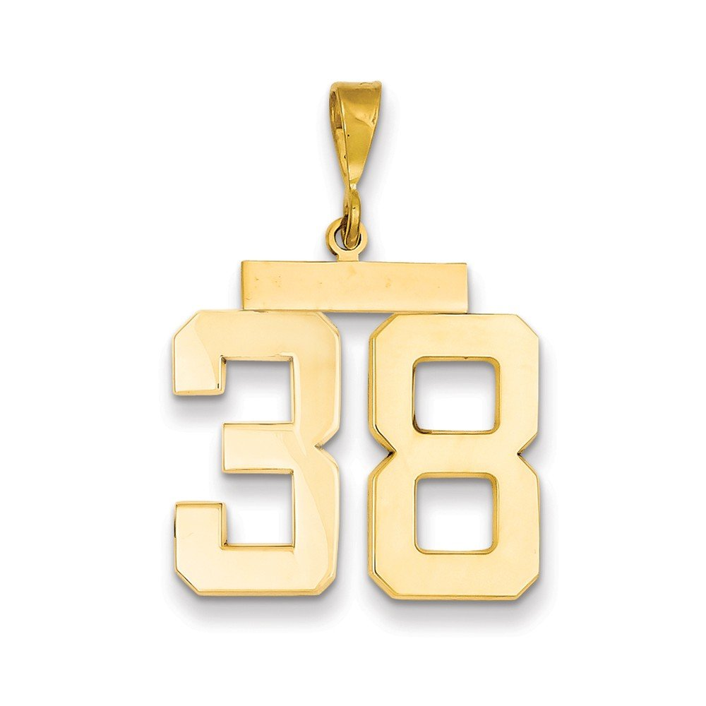 # 0 to 99 Available JewelrySuperMart Collection 14k Gold Number Charm Pendant