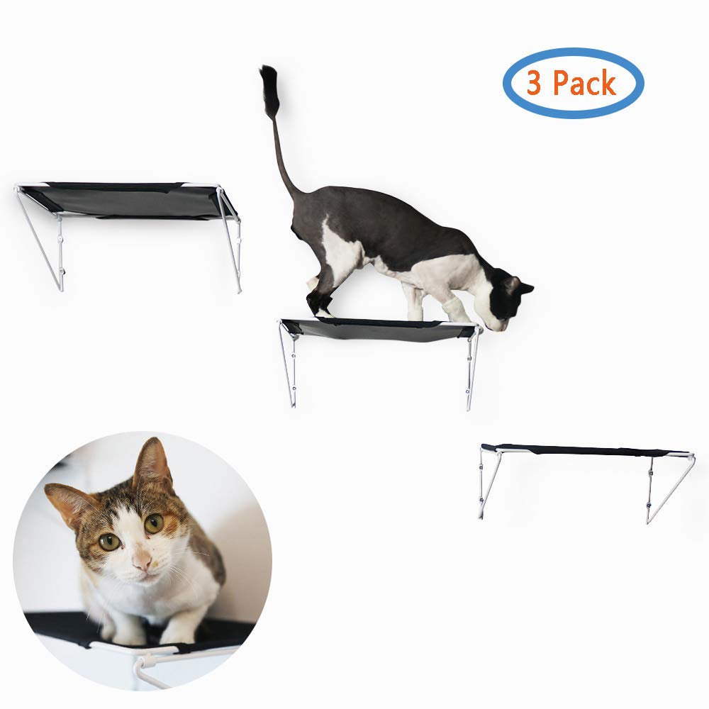 RayCC Cat Shelves Cat Steps Cat Perch Cat Cloud Cat Bed Wall-Mounted Cat Furniture Great for Cat Climbing (Set of 3) by RayCC