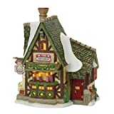 Department 56 Dickens Village the Merry Fir Advent Wreaths Lit Building, Multicolor