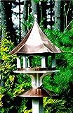 25'' Outdoor Enchanted Polished Copper Carousel Garden Bird Feeder