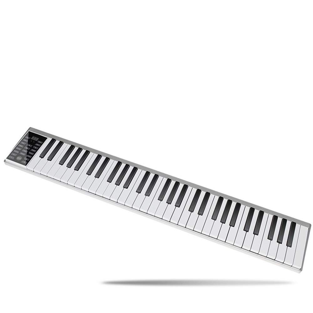 C Five 88-Key Beginner Digital Piano/Keyboard with Full-Size Semi-Weighted Keys Built-in Speakers and 5 Premium Voices(Silver/Piano Stand)