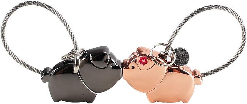 NACTECH 1 par Llaveros para Parejas Magnético Desmontable Besos Llaveros para Parejas Mujer Hombre Amantes Regalo Amor San Valentín Cumpleaños Aniversario Navidad Negro y Oro Rosa: Amazon.es: Equipaje