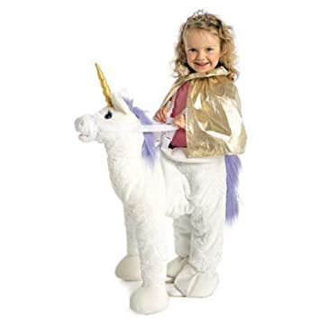 Einhorn Reiter Kinder Fasching Halloween Karneval Plusch Tier Anzug