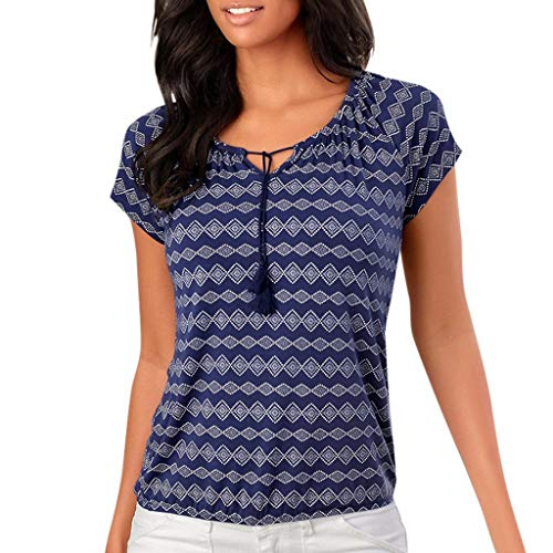 Witspace Womens Casual Short Sleeve V Neck Printed T Shirt Tops - Mens Bermuda Response