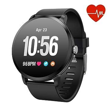 52a69c22b0 Moucit 多機能スマートウォッチ ランニングモード 腕時計 活動量計 歩数計 心拍計 IP67
