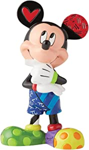 Enesco - 6003345 Disney by Britto Mickey Mouse Figurine, 6 Inch, Multicolor