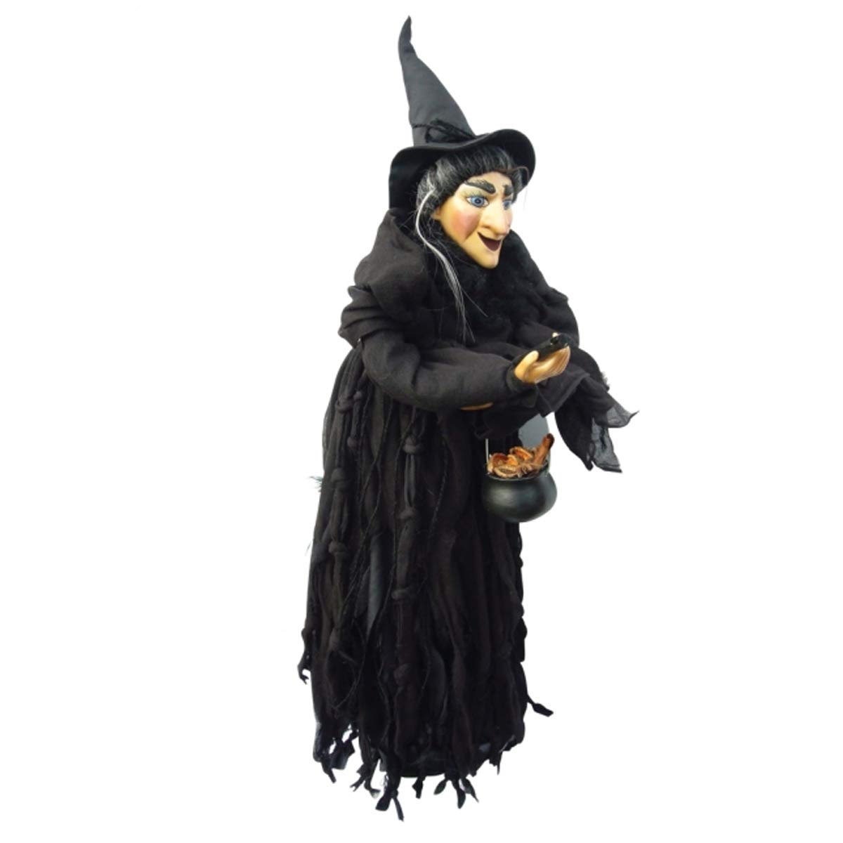 Witches of Pendle - Marjorie Witch Flying (Black) 50cm 5894-2