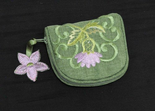 Jewelry Purse in a Green Balmoral Thistle (Celtic Design Thistle)