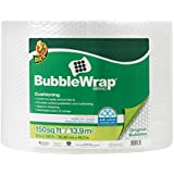 Duck 284054 Brand Bubble Wrap Original Protective Packaging Single Roll, 12 in. x 150 ft.