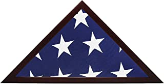 product image for American Flag Display Case - Wood Frame Fits 5x9.5' Folded Flag
