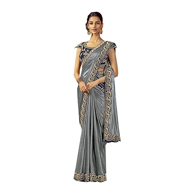 Amazon.com: Vestido gris Bollywood Fusion Sparkle Gown ...
