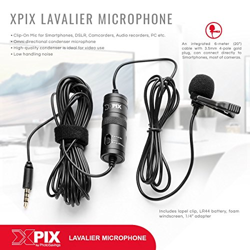 Zoom H1n Handy Recorder with Lavalier Mic Accessory Pack by Photo Savings (Image #6)