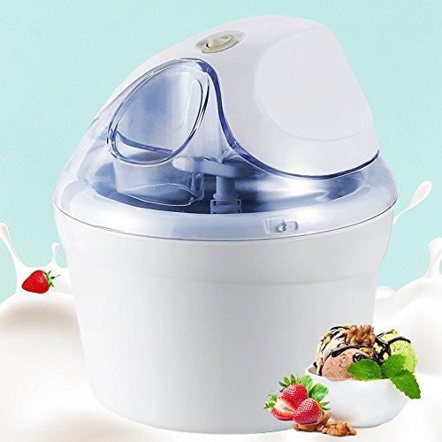 Aucma Ice Cream Maker, 1.5 Quart Ice Cream Machine, Automatic Frozen Yogurt, Sorbet and Soft Serve Machine for DIY Dessert