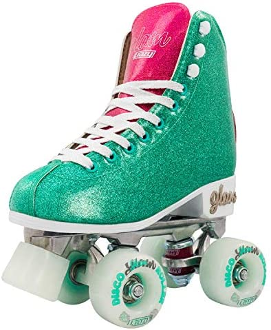 Crazy Skates Glam Roller Skates for Women and Girls Dazzling Glitter Sparkle Quad Skates