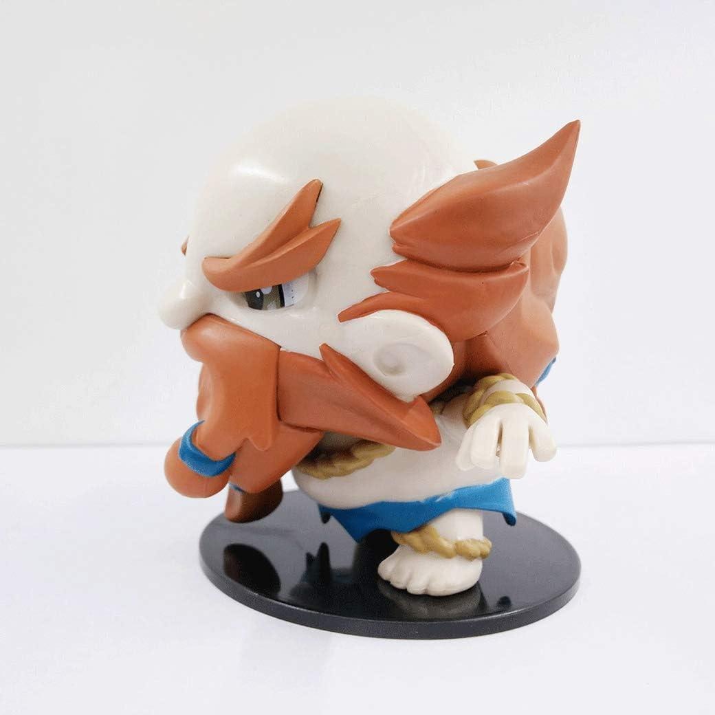 Aojing Gragas H/öhe 9 cm Feiertag Geburtstags-Geschenk Unruhestifter klassisch LOL Statue Spiel Charakter-Modell