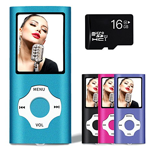 Lonve MP3 Player MP4 Player 16GB Portable Media Music Player with FM Radio Voice Recorder Supporting MP3 WMA WAV Blue by Lonve