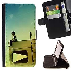 For Sony Xperia Z1 Compact / Z1 Mini (Not Z1) D5503 Case , Diseño RV Kid- la tarjeta de Crédito Slots PU Funda de cuero Monedero caso cubierta de piel