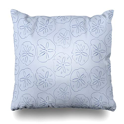 Ahawoso Throw Pillow Cover Hand Kelp Forest Blue Sand Dollars Ink Marker Brush Six Color Pallet Abstract Free Design Bright Decorative Sofa Cushion Case 20