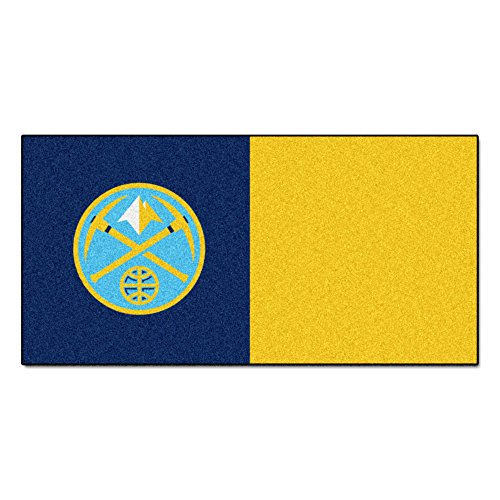FANMATS NBA Denver Nuggets Nylon Face Team Carpet Tiles by Fanmats