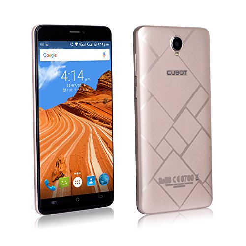 Cubot Max Smartphone ohne Vertrag (6 Zoll (16,5 cm) HD Touch-Display mit 4100mAh Akku, 3GB Ram, 32GB interner Speicher, Octa-Core Prozessor, Android 6.0, Dual-SIM, 4G LTE FDD, 5MP Frontkamera / 13MP Hauptkamera, IPS 2.5D gebogener Bildschirm) Gold