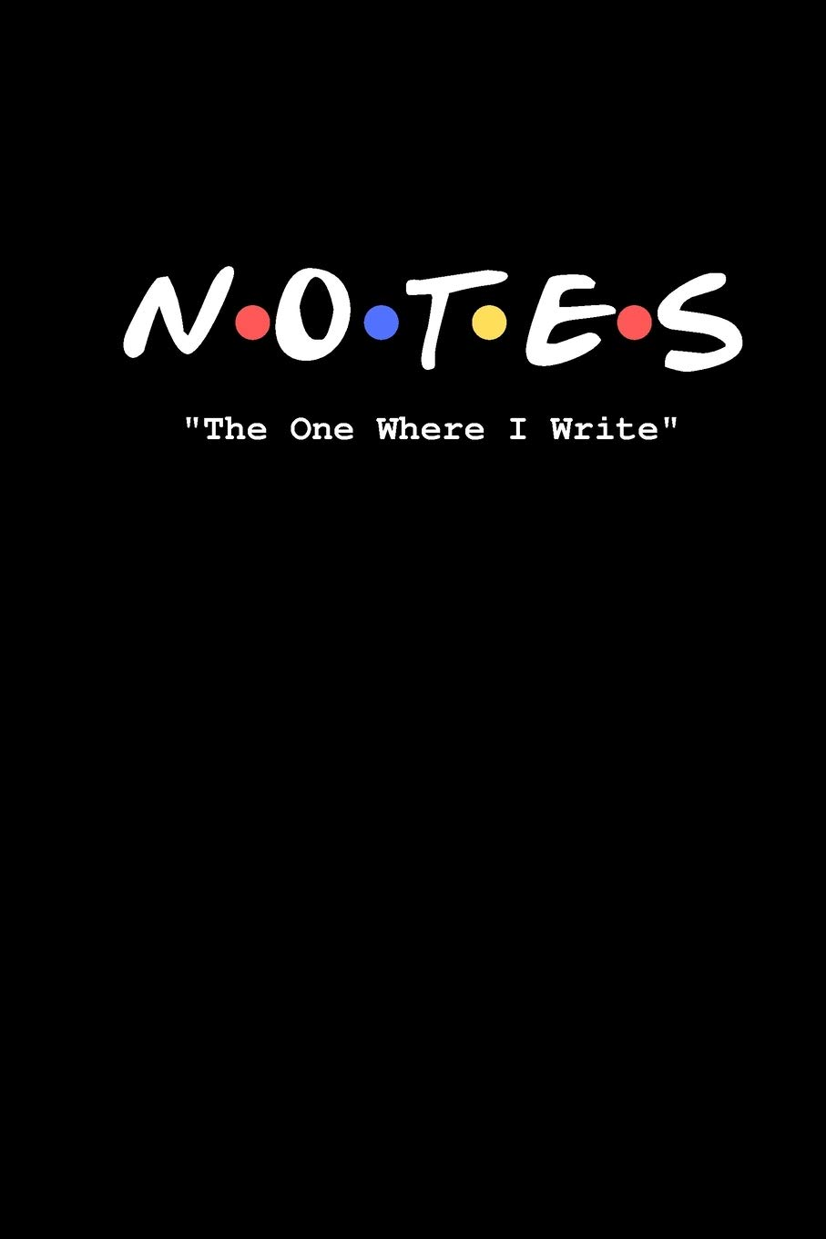 amazon com notes the one where i write friends tv show inspired title logo notebook and daily journal pop culture 9781670500724 culturer pop books friends tv show inspired title