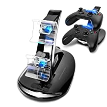 Mondpalast Dual Docking Station Charging Dock Station Stand Station Dual Charger Microsoft Xbox ONE xbox one X-ONE Controllers Controller Gamepad