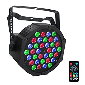 Flashandfocus.com 51eHO4mEmOL._SS300_ LED Par Lights, YeeSite 36W 36LEDs Stage Lighting Sound Activated Auto Play by Remote and DMX Control Par Lighting for…