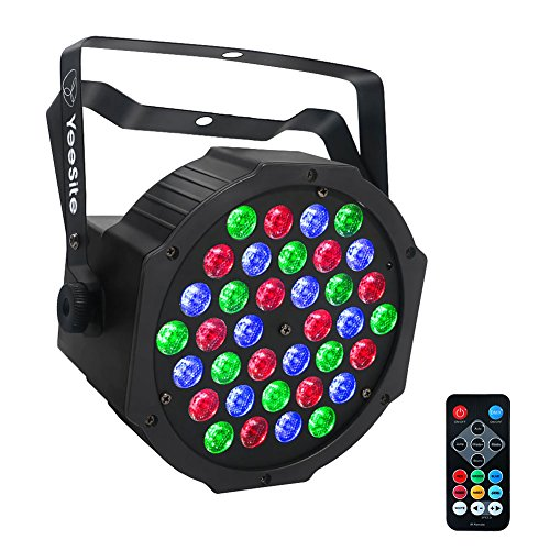[YeeSite Par Lights with 36 LEDs RGB Wash by IR Remote and DMX Control for Stage Lighting] (Rgb Wash)