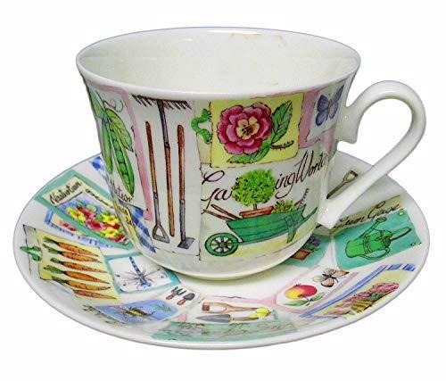 Roy Kirkham, England, Gardener Breakfast Cup & Saucer in Fine Bone China