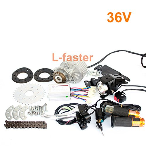 L-faster Newest 450W E-Bike Motor Kit Electric Multiple Speed Bicycle Conversion Kit Electric Engine Kit for Multi-Speed Bicycle (36V Twist - Watt Motor 450