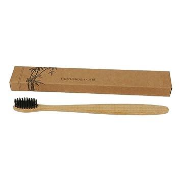 ZHUOTOP Cepillo de dientes de bambú natural ecológico para el cuidado bucal de la cerda suave mango de bambú: Amazon.es: Belleza
