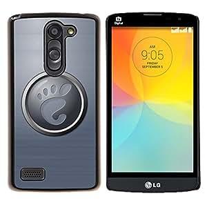For LG L Prime D337 / L Bello D337 Case , Pie- Diseño Patrón Teléfono Caso Cubierta Case Bumper Duro Protección Case Cover Funda