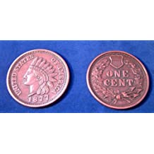 """REPLICA 1877 Indian Head Penny or Cent. Big Huge Large 3"""" Metal Coin"""