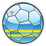 Aruba Flag Soccer Ball Home Decal Vinyl Sticker 12'' X 12''