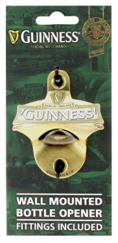 ( Guinness Green Collection Wall Mounted Bottle Opener - Metal Bottle Cap Remover)
