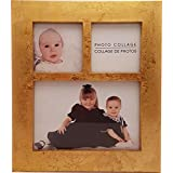 Gold Leaf 3 Picture Collage Picture Frame
