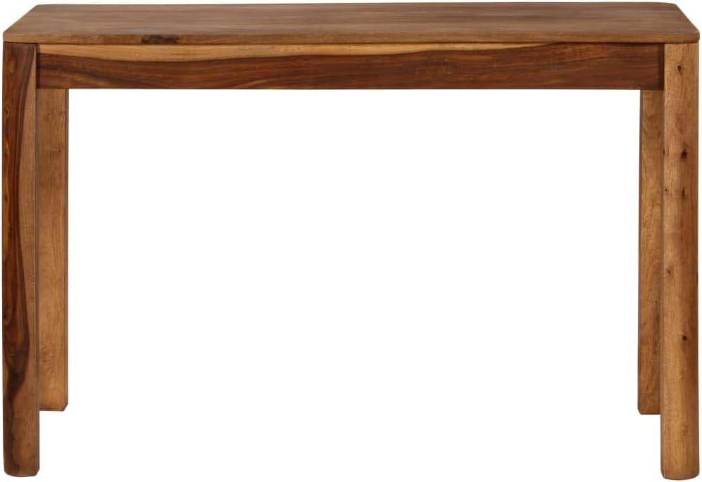 vidaXL Tavolo da Pranzo in Legno Massello di Sheesham 120x60x76 cm