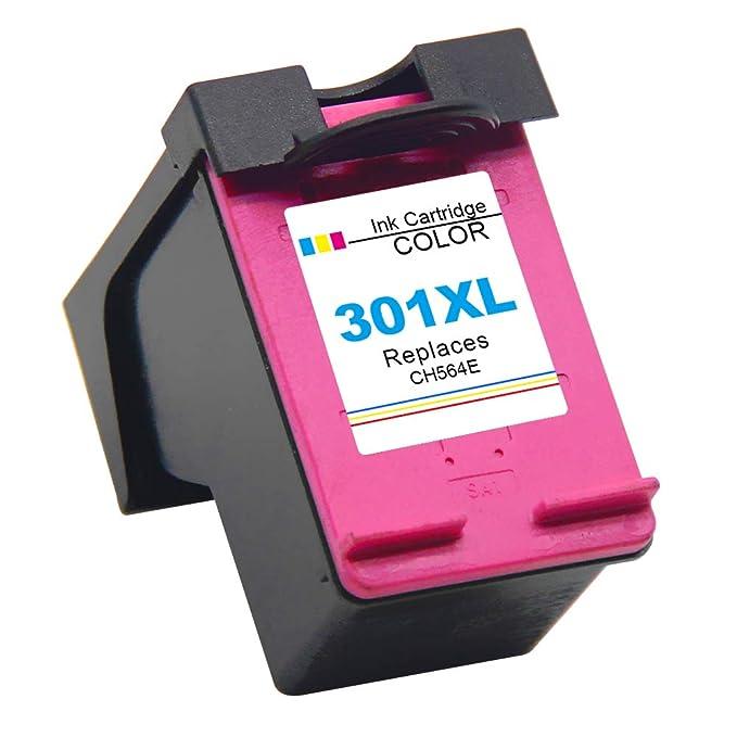 Gmoher Remanufacturado Cartucho de Tinta para HP 301XL 301 Alto Rendimiento Cartucho de Tinta CH564E Compatible con HP Deskjet 1000 1010 1050 2000 ...