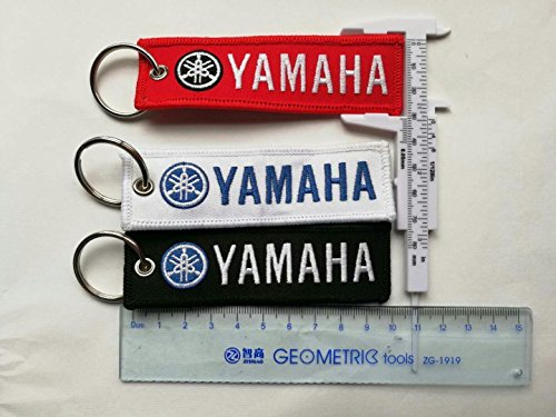 3X Embroidered Tag Keychain Key Ring for Yamaha Motorcycles Bike Biker Key Chain Accessories Gifts