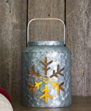 Lighted Metal Snowflake Lantern 7''