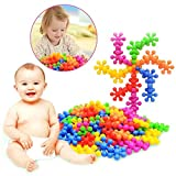 100+Pcs/Bag Plum Blossom Shaped Building Block Toy Plastic Colorful Baby Early Educational Toys Children Kids Gift,To improve Imagination and Creativity