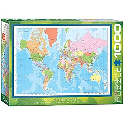 EuroGraphics Modern Map of The World Puzzle (1000-Piece): Toys & Games