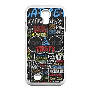 samsung s4 9500 case,samsung s4 9500 Cell phone case White Mikey Mouse-PUU4921277